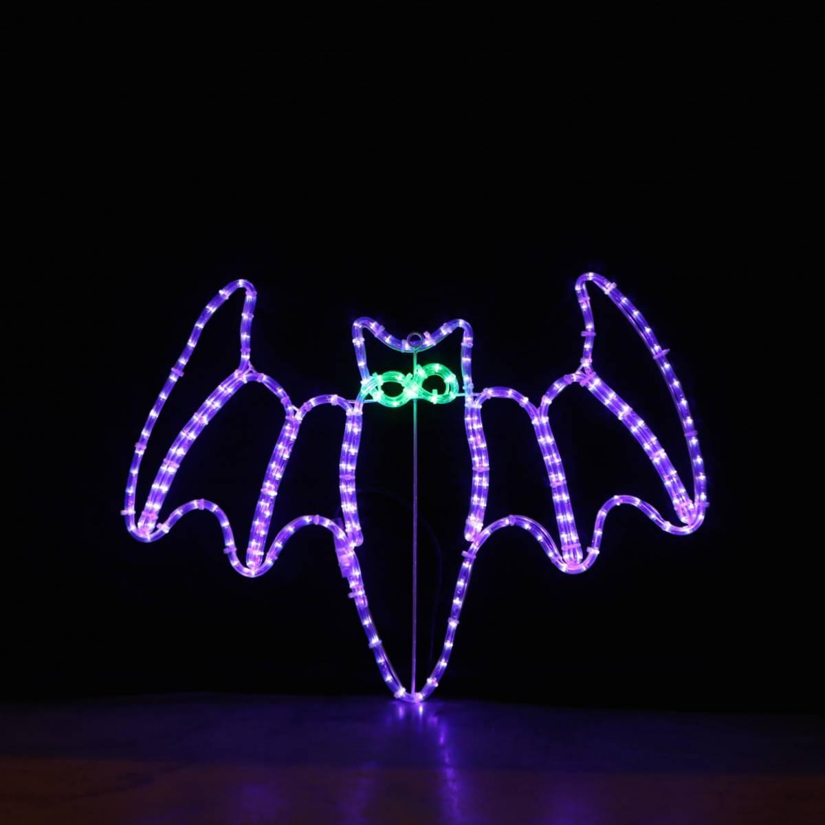 Flaggermus 80x63 cm lilla LED. Halloween