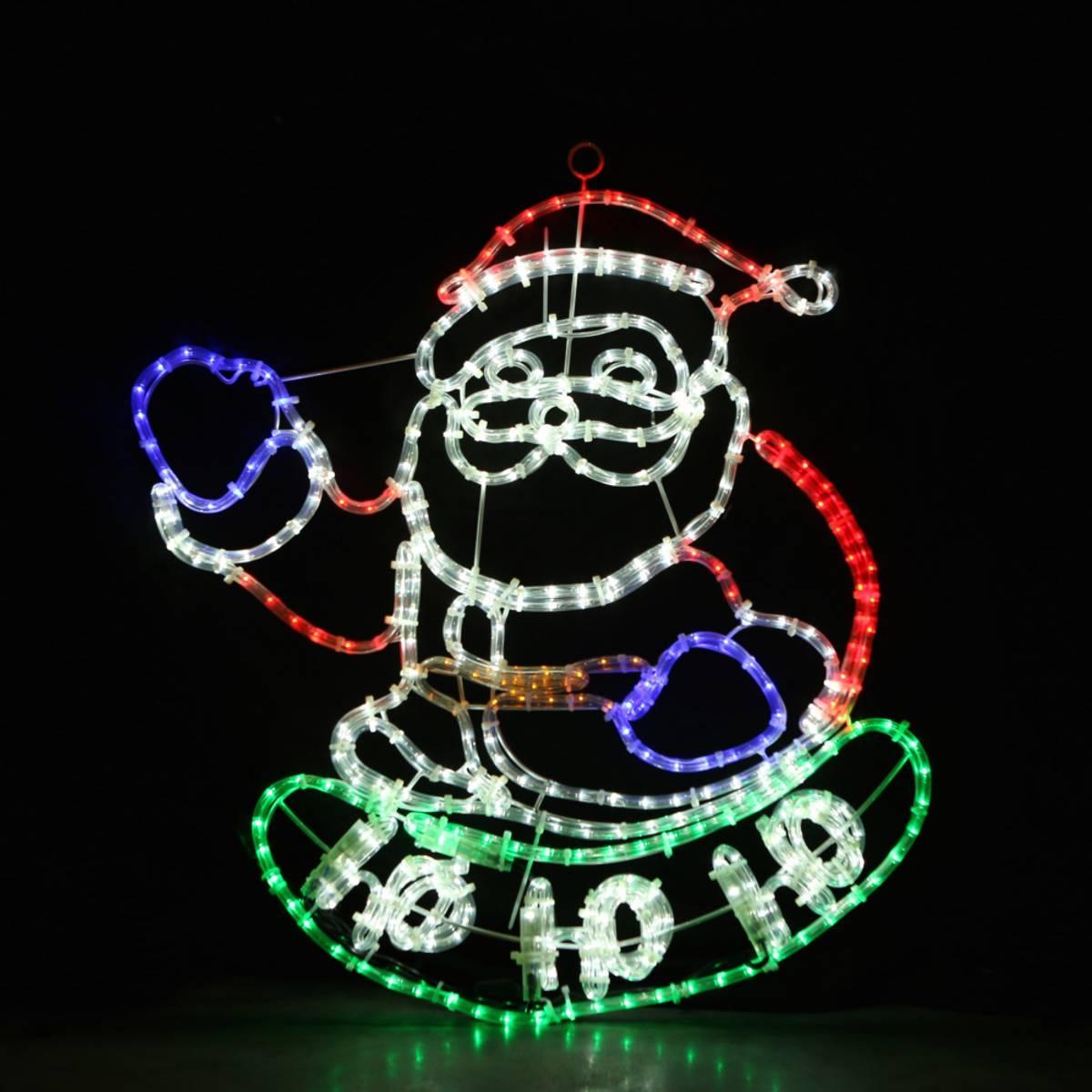 Julenisse m/lysmønster på hohoho 75x70 cm