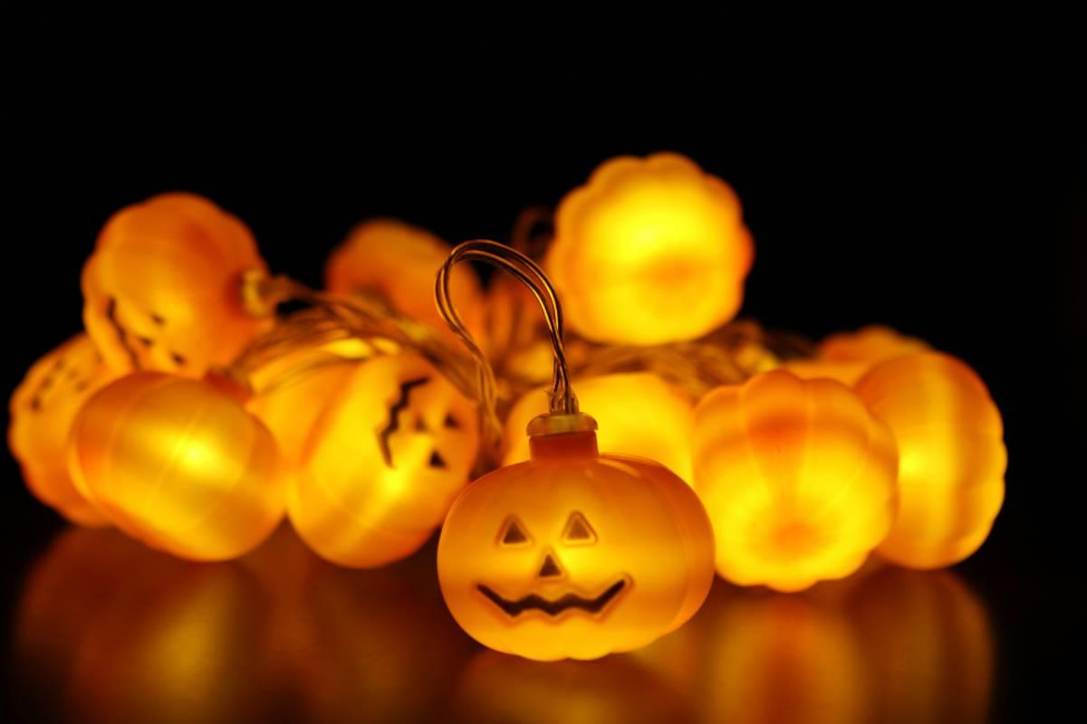 Lyslenke gresskar - 3 meter 20 pærer. Halloween
